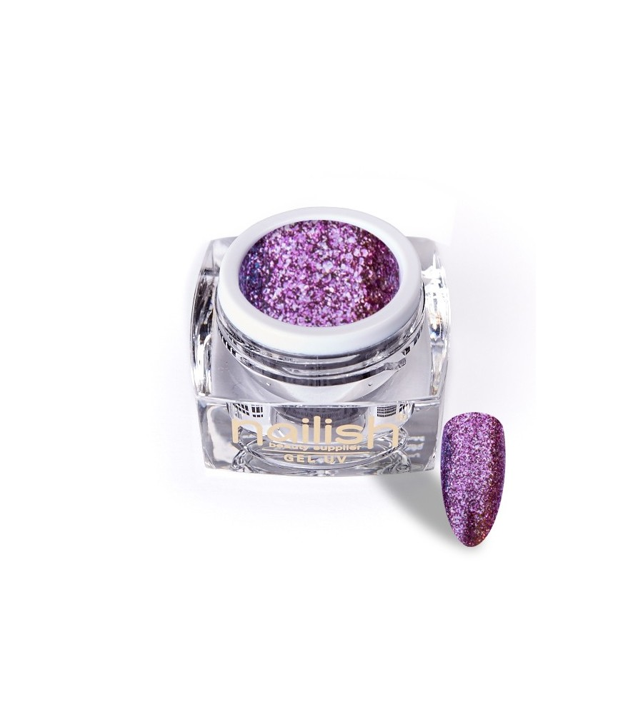 Gel Glitter UV/LED Luxury Dark Pink 5ml