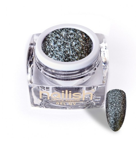 Gel Glitter UV/LED Luxury Dark Silver 5ml