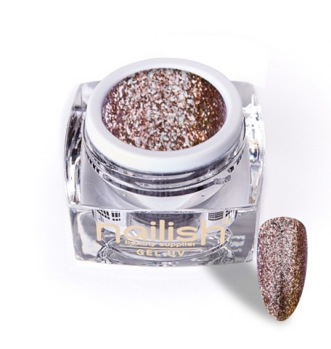 Gel Glitter UV/LED Luxury Honey 5ml.