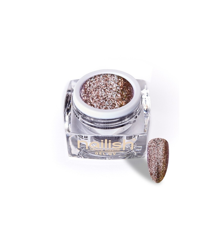 Gel Glitter UV/LED Luxury Honey 5ml pour manucure ongles et nail art en gel uv.