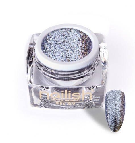 Gel UV/LED Glitter Luxury Dusty Lila 5ml pour manucure ongles et nail art en gel uv.