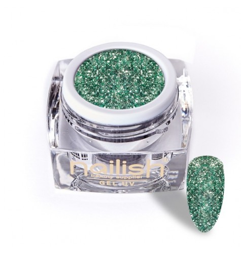Gel Glitter UV/LED Luxury Green Diamond 5ml.