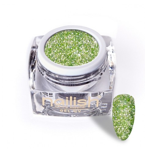 Gel Glitter UV/LED Luxury Green Garnet 5ml*.