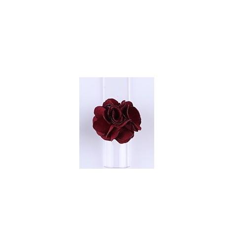 Décor 3D Fleur Aimant Tissu Rouge 1pcs