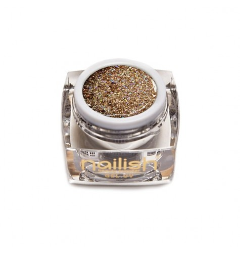 Gel Glitter UV Led Crystal Gold 5ml.
