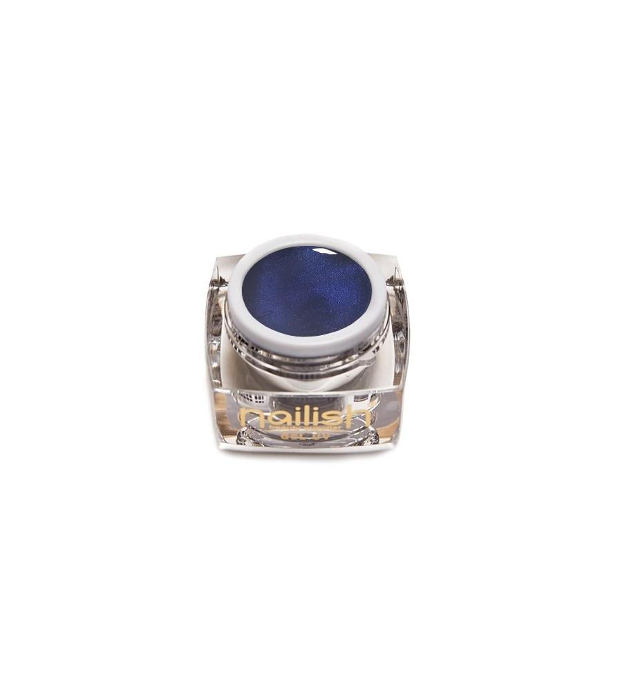 Glitter Met Elixir Blue Gel UV LED Nailish 5 ml.