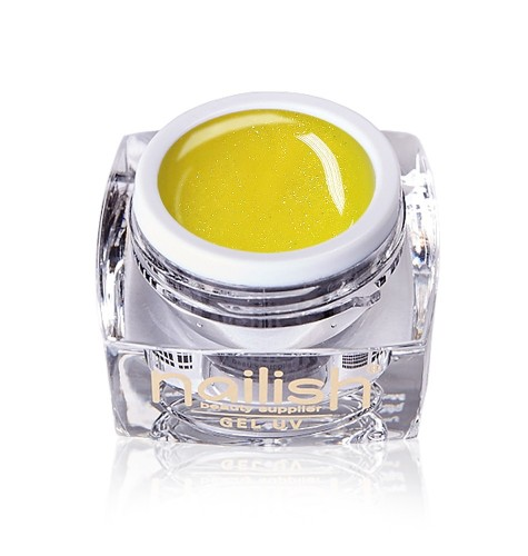 Glitter Citron Nailish UV LED Gel 5 ml.
