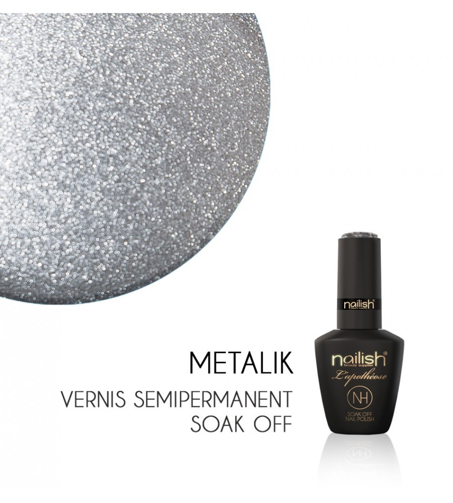 Vernis Semi Permanent UV / LED Metalik Nailish Apothéose