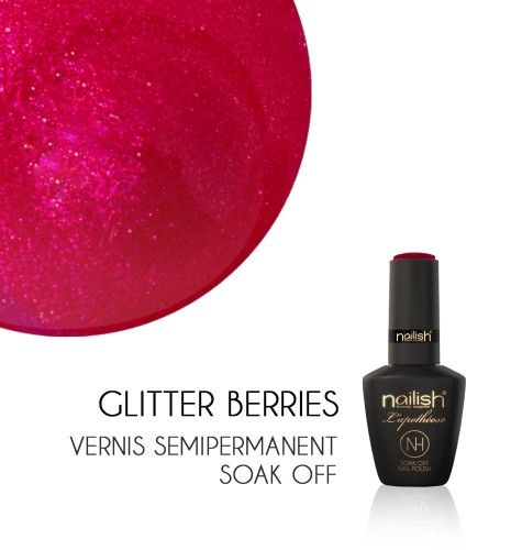 Vernis Semi Permanent UV / LED Glitter Berries Nailish Apothéose