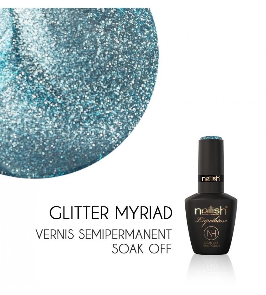 Vernis Semi Permanent UV / LED Glitter Myriad L'apothéose