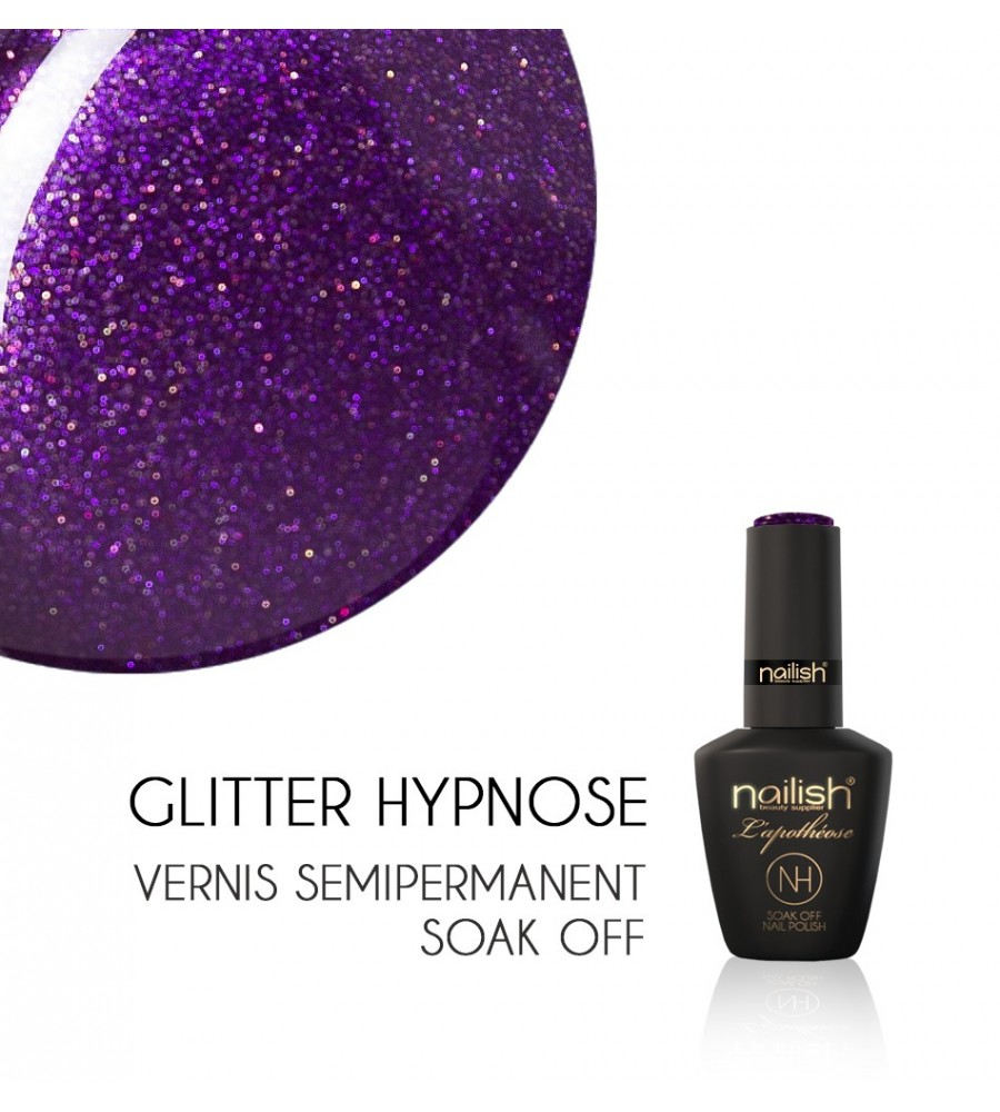 Vernis Semi Permanent UV / LED Glitter Hypnose Nailish