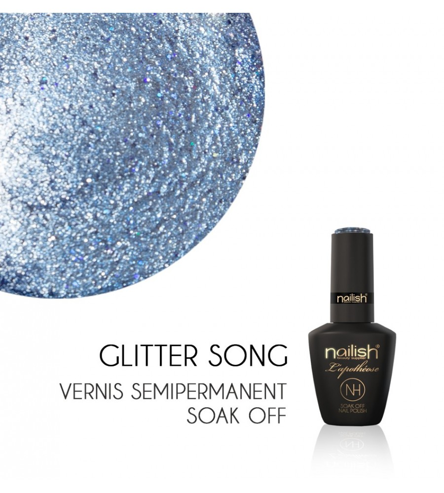 Vernis Semi Permanent UV / LED Glitter Leaf Nailish Apothéose