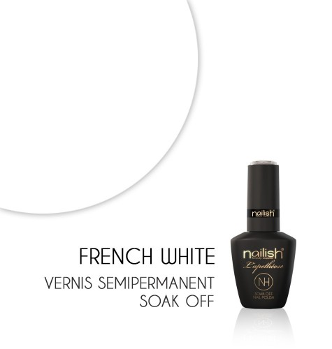 Vernis Semi Permanent UV / LED FRENCH WHITE L'apothéose Nailish