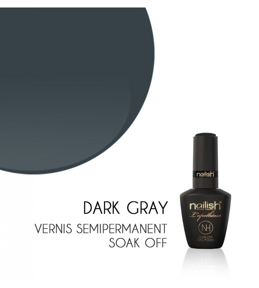 Vernis Semi Permanent UV / LED Dark Gray L'apothéose Nailish