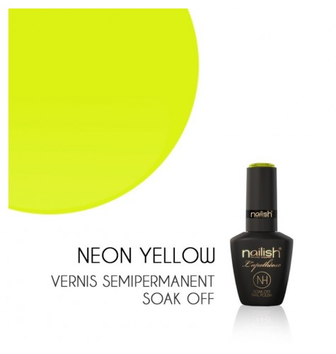 Vernis Semi Permanent UV/LED Néon Yellow L'apothéose Nailish