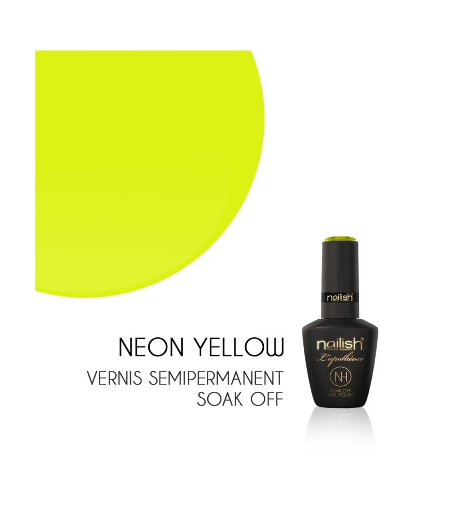 Vernis Semi Permanent UV/LED Neon Yellow L'apothéose Nailish