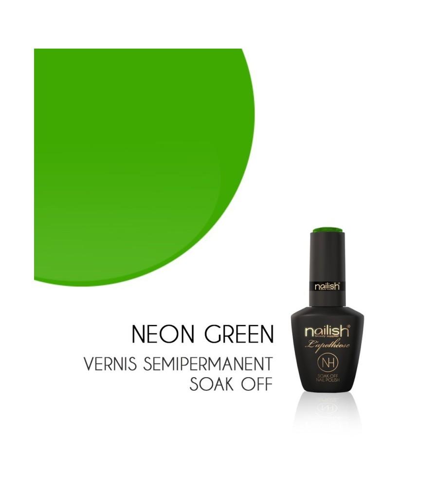 Vernis Semi Permanent UV/LED Néon Green L'apothéose Nailish