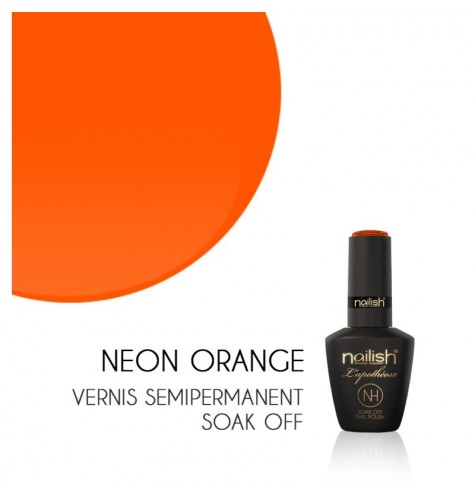 Vernis Semi Permanent UV/LED Néon Orange L'apothéose Nailish