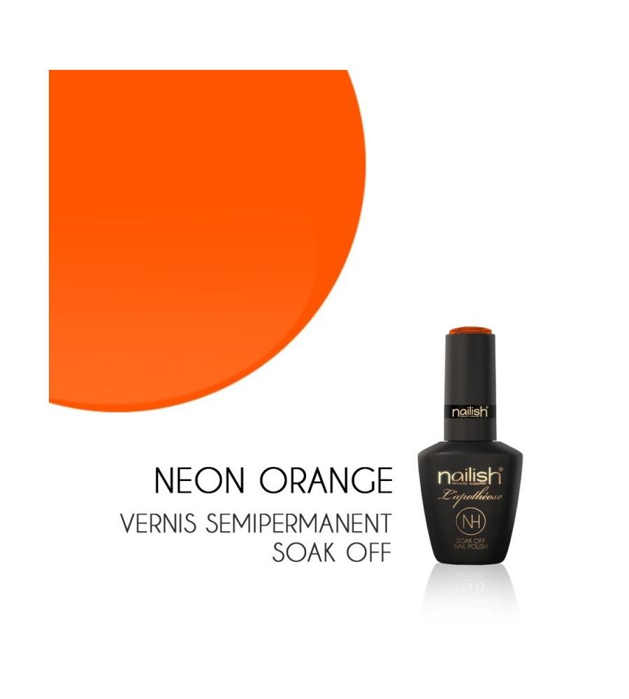 Vernis Semi Permanent UV/LED Néon Orange L'apothéose Nailish