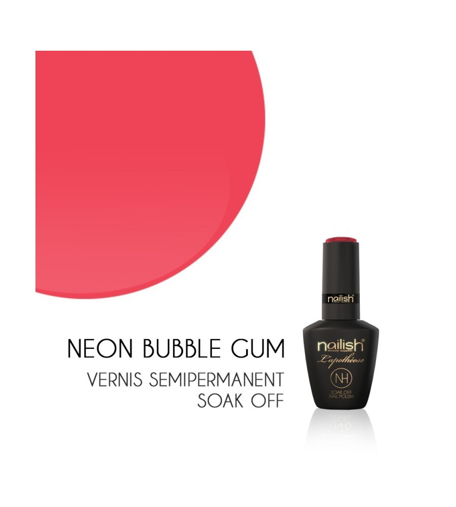 Vernis Semi Permanent UV/LED Néon Bubble Gum L'apothéose Nailish