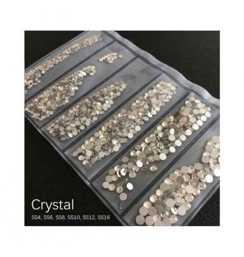 STRASS MIX CRYSTAL DIFFERENTS TAILLES 1300 PCS