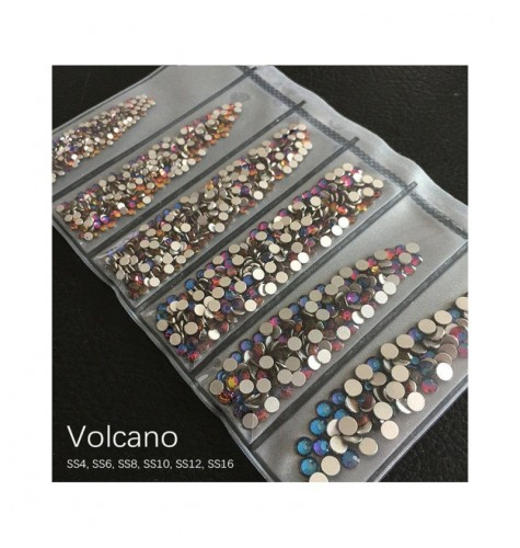 STRASS MIX VOLCANO DIFFERENTS TAILLES 1300 PCS