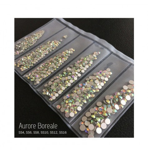 STRASS MIX AURORE BOREALE DIFFERENTS TAILLES 1300 PCS