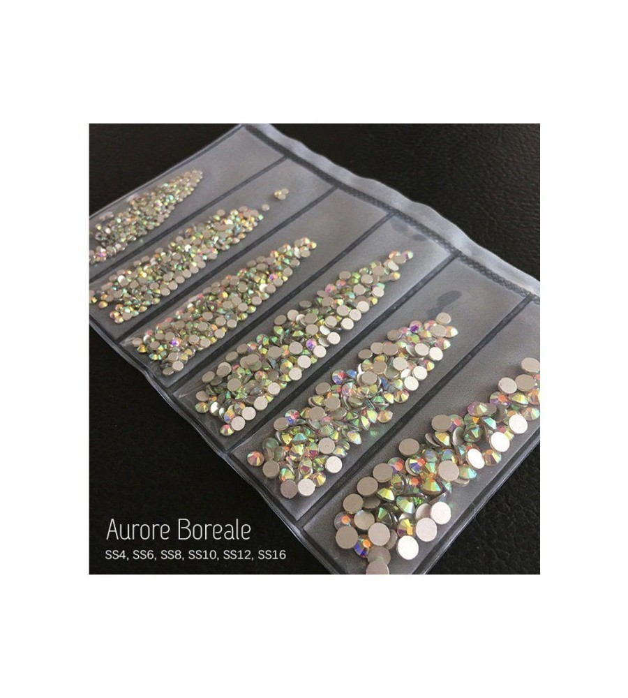 STRASS MIX DIFFERENTS TAILLES AURORE BOREALE 1300 PCS
