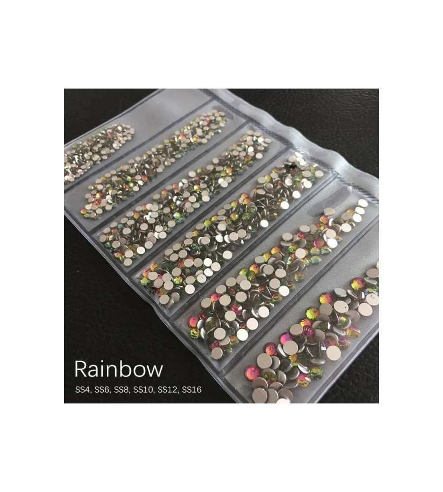 STRASS MIX DIFFERENTS TAILLES RAINBOW 1300 PCS
