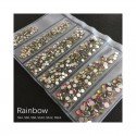 STRASS MIX RAINBOW DIFFERENTS TAILLES 1300 PCS