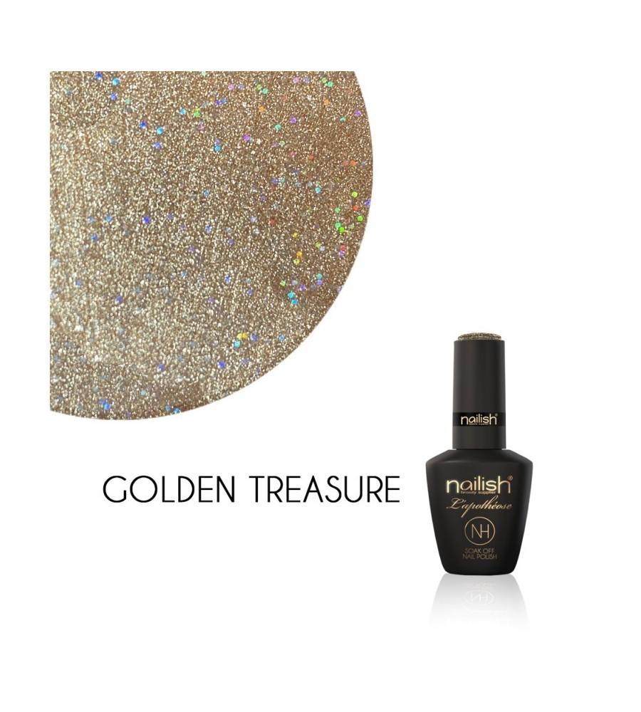 Vernis Semi Permanent UV / LED Golden Treasure L'Apothéose Nailish
