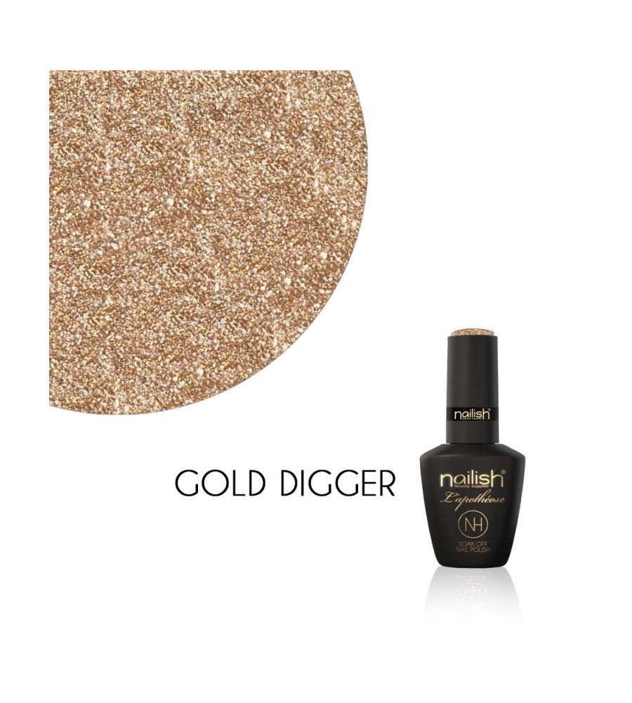 Vernis Semi Permanent UV / LED Gold Digger L'Apothéose Nailish