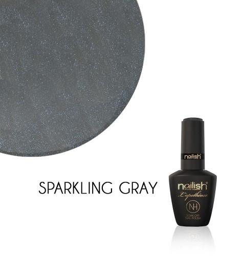 Vernis Semi Permanent UV / LED Sparkling Gray L'apothéose Nailish