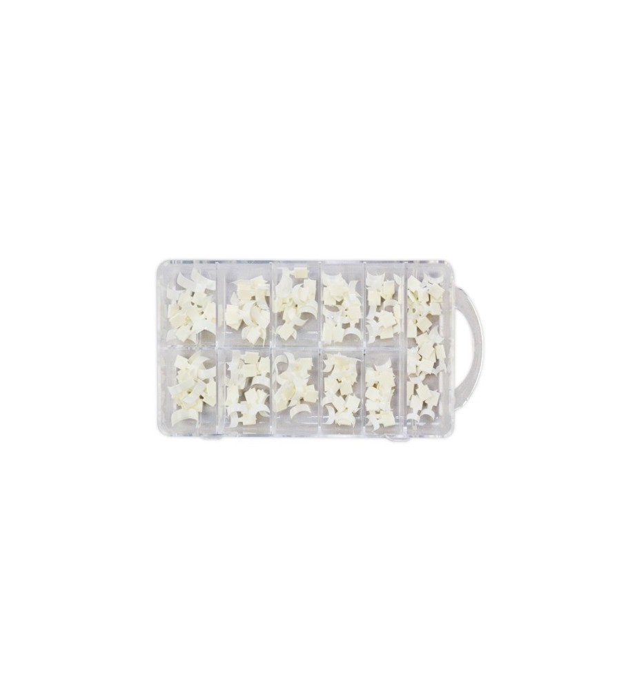 Capsules Mini Extension French Blanches 100 pcs/Boite